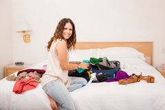 Deciding what to wear Stock Photo