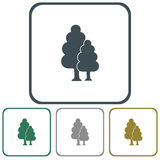 Deciduous forest icon. Vector illustration stock illustration