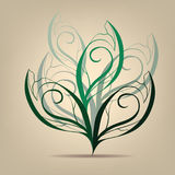 Deciduous tree symbol. Vector illustration. Deciduous tree symbol on a beige background Royalty Free Stock Photos