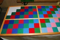 Decimal board. Material used in math lessons at a montessori school Stock Photo