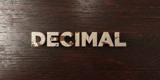 Decimal - grungy wooden headline on Maple  - 3D rendered royalty free stock image Stock Photos