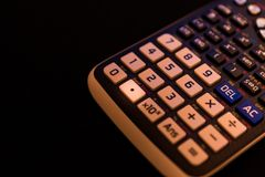 Decimal point Key of the keyboard of a scientific calculator. Machine stock photos