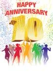 Decimo anniversario Immagine Stock