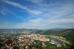 Decin,捷克共和国 免版税库存图片