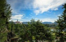 Decin Castle τσέχικα Στοκ φωτογραφία με δικαίωμα ελεύθερης χρήσης