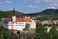 Decin chateau Stock Images