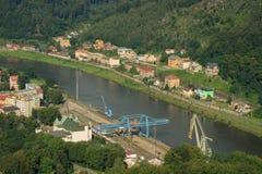 DECIN, CZECH REPUBLIC. Decin town, North Bohemia, Czech republic stock image