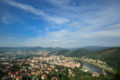 DECIN, CZECH REPUBLIC. Decin town, North Bohemia, Czech republic royalty free stock image