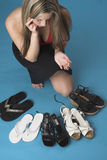 Decinding which pair to wear Stock Photos