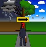 Decisão ilustração stock