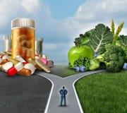 Decisão da medicamentação ilustração stock