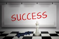 Decisão estratégica do sucesso Fotos de Stock Royalty Free