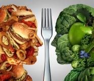 Decisión de la nutrición ilustración del vector