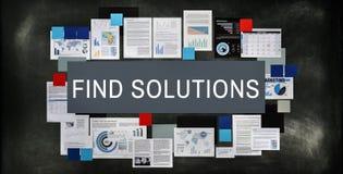 Decisión de las soluciones del hallazgo que soluciona concepto del resultado de la estrategia fotografía de archivo