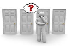 Decisión de qué puerta para elegir 2 Imágenes de archivo libres de regalías