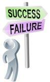 Decisión del éxito o del fracaso Foto de archivo
