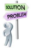 Decisión del problema o de la solución Foto de archivo
