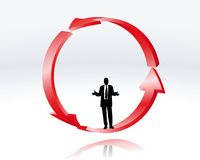 Decisión de un hombre de negocios Imagen de archivo libre de regalías