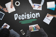Decision against blackboard Royalty Free Stock Image