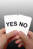 Decision cards 3 Royalty Free Stock Images