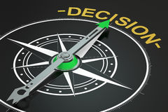 Decision compass concept. 3D rendering Stock Photography