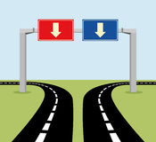 Decision concept road signs Royalty Free Stock Image