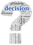 Decision concept in tag cloud Royalty Free Stock Images