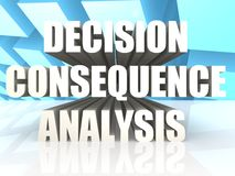 Decision Consequence Analysis Stock Photos