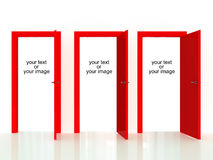 Decision door. Rendering 3d of doors, you can fill in your text or image Stock Photo