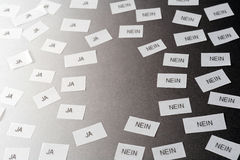 Decision. Ja, nein (yes, no in english Royalty Free Stock Photo
