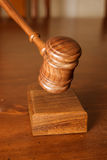 Decision made judges gavel hitting Royalty Free Stock Photo