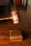Decision made judges gavel hitting Royalty Free Stock Photography