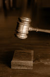 Decision made judges gavel hitting Stock Image