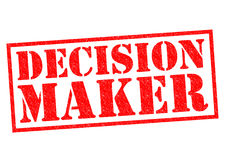 DECISION MAKER. Red Rubber Stamp over a white background Royalty Free Stock Photos