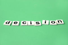 Decision making, block alphabets Royalty Free Stock Images