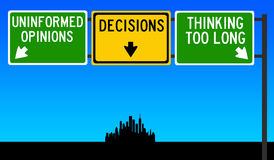 Decision making. Making decisions in an informed but not too elaborate way Royalty Free Stock Photo