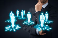 Decision making. (management decisions) - select the best business perspective (direction) to future Stock Image