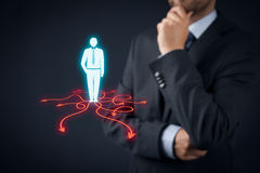 Decision making. (management decisions) - select the best business way (direction) to future Royalty Free Stock Image