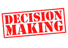 DECISION MAKING. Red Rubber Stamp over a white background Royalty Free Stock Photography