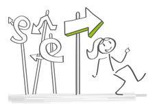Decision making vector illustration concept stock illustration