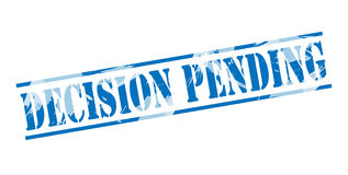 Decision pending blue stamp Stock Photography