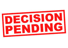 DECISION PENDING Stock Photography