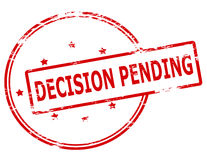 Decision pending. Rubber stamp with text decision pending inside,  illustration Stock Image