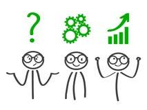 Decision problem, solving process, generator ideas, succeed - vector. Decision problem, solving process, generator ideas, succeed - stock vector vector illustration