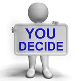 Decision Sign Representing Uncertainty And Making Decisions Stock Images
