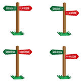 Decision Signs. Vector of Decision Signs (Good and Bad Stock Image