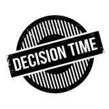 Decision Time rubber stamp Stock Photography