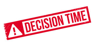 Decision Time rubber stamp Royalty Free Stock Photos