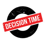 Decision Time rubber stamp Stock Images