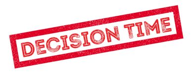 Decision Time rubber stamp Royalty Free Stock Image